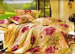 Rose Petal Rose Petal Polyester Floral Double, Queen Bedsheet