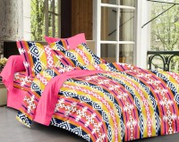 Story @ Home Cotton Printed Double Bedsheet 1 Bedsheet, 2 Pillow Cover, Multicolor
