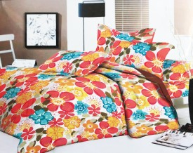 Mk Retail Cotton Printed Queen sized Double Bedsheet