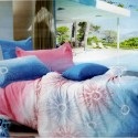 Aapno Rajasthan Pink And Blue Pure Cotton Tie And Dye Design Fitted Double Bedsheet