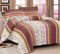 Story @ Home Cotton Printed Double Bedsheet 1 Bedsheet, 2 Pilow Cover, Multicolor
