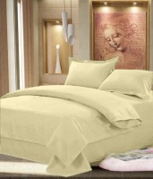 JBG Home Store Cotton Solid Double Bedsheet (Bedsheet, 2 Pillow Covers)