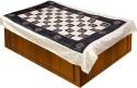 Soundarya Checks Design Gold Print Ethnic Set Flat Single Bedsheet - BDSDXG2PA2FUBPSZ