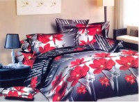 Queensland Cotton Floral Double Bedsheet (1 Bedsheet, 2 Pillow Covers)
