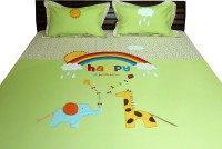 Aiva Little Pipal Happy Dreams Kids Flat Double Bedsheet