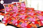 Grafion Cotton Geometric Double Bedsheet