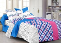 Story @ Home Cotton Printed Double Fitted Bedsheet 1 Double Bedsheet With 2 Pillow Cover, Multicolor