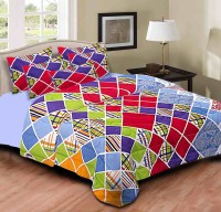 Home Originals Polycotton Abstract Double Bedsheet 1 Double Bedsheet, 2 Pillow Covers, Multicolor - BDSEEQKM37NZERFF