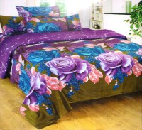 Ruhi Home Furnishing Cotton Floral Double Bedsheet 1 Double Bedsheet, 2 Pillow Covers, Multicolor
