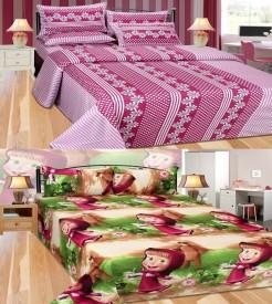 Rashi Homes Cotton Cartoon Double Bedsheet