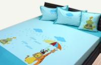 Aiva Little Pipal Monsoon Jungle Kids Flat Double Bedsheet