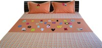 Aiva Little Pipal Alphabet Zoo Kids Flat Double Bedsheet