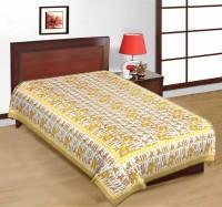 Fab Rajasthan Unique Arts Cotton Printed Single Bedsheet 1 Bedsheet, Multicolor - BDSE7UYQKUP4KTEY