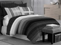Bombay Dyeing Cotton Striped Double Bedsheet (1 Double Bedsheet, 4 Pillow Covers)