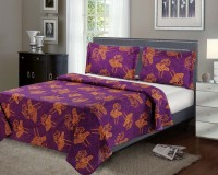Portico Cotton Floral Double Bedsheet (1 Bedsheet, 2 Pillow Covers)