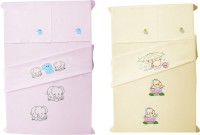 Baby Rap Cotton Embroidered Standard Crib Bedsheet (4 Bed Sheets, 4 Pillow Covers, Multicolor) - BDSE672KZZHAJUZA