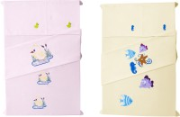 Baby Rap Cotton Embroidered Standard Crib Bedsheet (4 Bed Sheets, 4 Pillow Covers, Multicolor) - BDSE6G7W4YCFDVAE