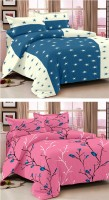 Story @ Home Cotton Printed Double Bedsheet Set Of 2 Double Bedsheet With 4 Pillow Cover, Multicolour - BDSE75QBCYYUGVAH