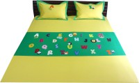 Aiva Little Pipal Alphabet Zoo Kids Flat Double Bedsheet