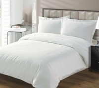 HandloomTrendz Cotton Solid Single Bedsheet 2 Top Sheet, White
