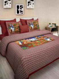 arizoncarts Cotton Printed King sized Double Bedsheet