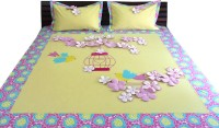 Aiva Little Pipal Cherry Blossom Garden Kids Flat Double Bedsheet