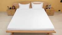 Bombay Dyeing Cotton Solid Extra Large Bedsheet (1 Extra Large Bedsheet, 2 Large Pillow Covers, White)