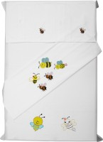 Baby Rap Cotton Embroidered Standard Crib Bedsheet (2 Bed Sheets, 2 Pillow Covers, White) - BDSE59YQFK6PBYBG