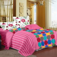 Story @ Home Cotton Printed Double Bedsheet (1 Double Bedsheet With 2 Pillow Cover)