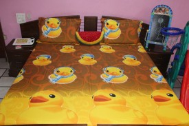 Sunflower Cotton Printed Double Bedsheet