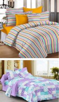 Story @ Home Cotton Printed Single Bedsheet Set Of 2 Single Bedsheet With 2 Pillow Covers, Multicolour