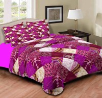 Home Originals Polycotton Abstract Double Bedsheet 1 Double Bedsheet, 2 Pillow Covers, Multicolor - BDSEEQKMCHRTXZHV