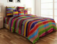 Mirchifry Polycotton Printed Double Bedsheet 1 Bedsheet With Two Pillow Covers, Multicolor