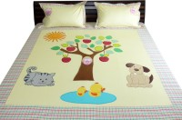 Aiva Little Pipal Apple Of Our Eyes Kids Flat Double Bedsheet