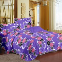 Story @ Home Cotton Printed Double Bedsheet 1 Double Bedsheet With 2 Pillow Cover, Multicolor