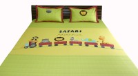 Aiva Little Pipal Safari Adventure Kids Flat Double Bedsheet