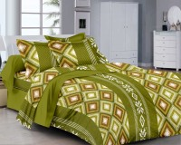 Classic Furnishing Plus Cotton Printed Double Bedsheet Double Bedsheet With 2 Pillow Cover, Green