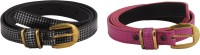 SRS Women Casual Pink, Black Artificial Leather Belt Pink-Black-114