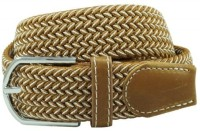 The Tie Hub Men Casual Brown Synthetic Belt Brown, White