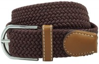 The Tie Hub Men Casual Brown Synthetic Belt Dark Brown