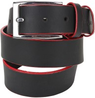Rigado Men Casual Black, Red Genuine Leather Belt (Black, Red)