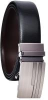 Hawai Men Casual Brown, Black Genuine Leather Reversible Belt Brown, Black