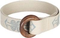 Anekaant Women Casual White Fabric Belt White