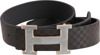 RMX Men, Boys Black Texas Leatherite Belt Black
