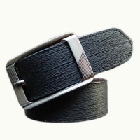 Winsome Deal Men Casual Brown Genuine Leather Reversible Belt Black