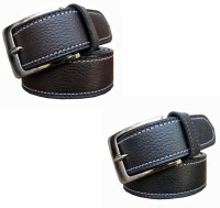 Winsome Deal Men Formal Black, Brown Artificial Leather Belt Black, Brown