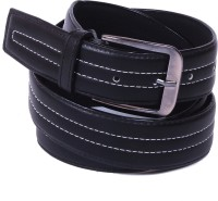 Calibro Men, Boys Casual Black Texas Leatherite Belt Black