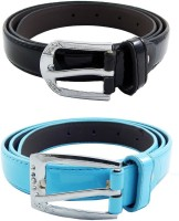 ELS Women, Girls Formal, Casual Black, Blue Synthetic Belt Black, Light Blue