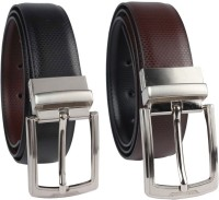 Ocean Enterprises Men Party, Casual, Formal Black Genuine Leather Reversible Belt Black