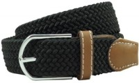 The Tie Hub Men Casual Black Synthetic Belt Black
